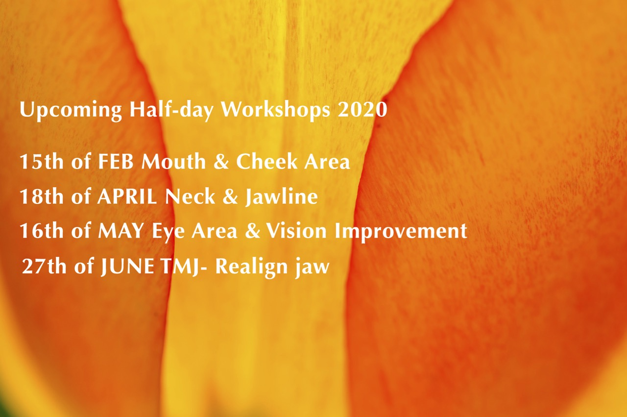 Upcoming Half-day Face Yoga Workshops in 2020 by face Yoga Australia